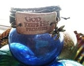 Essential Oil Jewelry Aromatherapy Jewelry Diffuser Porcelain Ceramic  Leather Stacked Bracelet God Keeps His Promises W/Dragonfly