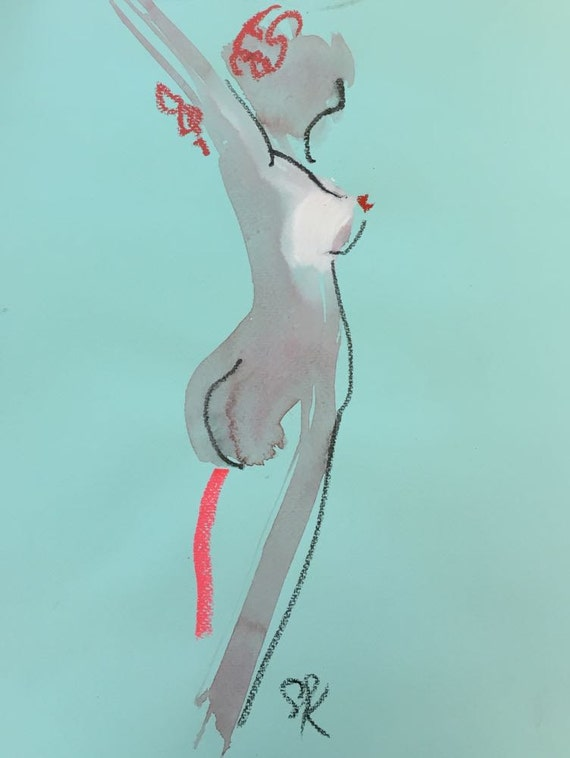 Nude painting of One minute pose 85.3  Original painting by Gretchen Kelly