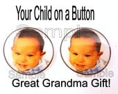 """5 Personalized Child Buttons.  Put Your Child on a Sewing Button. 3/4"""" or 20 mm"""