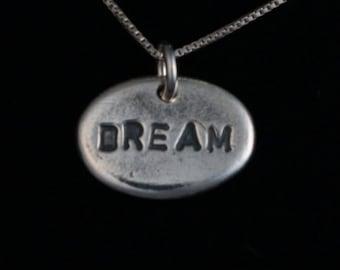 Dream Necklace - Fine Silver - Handmade Artisan Jewelry - Inspirational - Organic - ME Designs