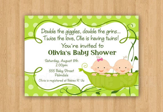 two peas in a pod baby shower invitations jpeg cute simply, Baby shower