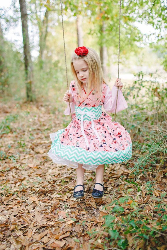 Little Girls Harajuku Dress, Kawaii Dress, Little Girls Dress, Kokeshi Doll, Toddler Dress Girls, Tween Dress Girls, Girls Dress, Kids Dress
