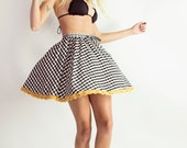 ON SALE! Road Tripping black and white mini skirt