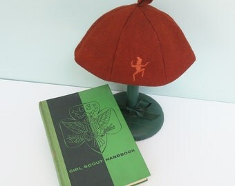 SALE! 1957 Girl Scout Handbook and Official Brownie Scout Beanie