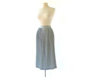 Vintage 40s Skirt / Accordion Pleated Skirt / 1940s Skirt / Gray Skirt / 24W