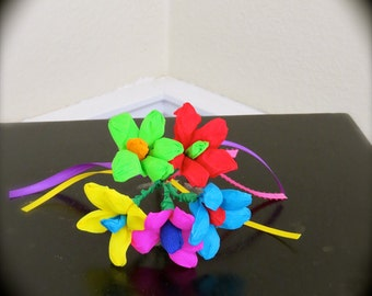 Colorful Mexican Paper Flower  Bouquet - Perfect for a gift or to add to your Day of the Dead altar