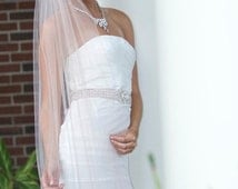 Cathedral Wedding Veil, Bridal Veil, Traditional Wedding Veil in White, Diamond White, Ivory and more-- Tulle Bridal Veil