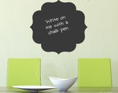 Chalkboard Decal #1 Wall Decal Self Adhesive large vinyl lettering wall sticker kitchen mud room office