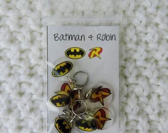 Batman and Robin Stitch Markers