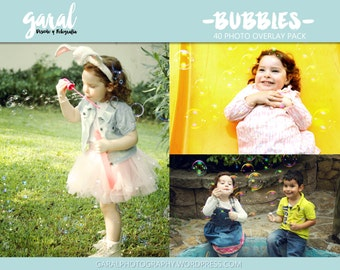 BUBBLES Photoshop Overlays, photoshop overlay, bubbles overlay, soap, kids outdoor photography image pack