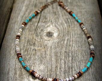 Minimalist Bracelet, Turquoise Bracelet, Tribal Bracelet, Southwest Jewelry, Boho Ankle Bracelet, Native American Style , Bohemian Bracelet