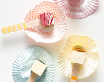 DIY Popsicle Sticks - Scribble Stripes