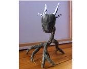 Earthy Green Root Spirit - plush fantasy creature