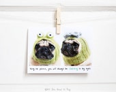 Prince Charming Pug Card - Anniversary Card for Him - Pug Valentine - Valentine for Him - Romantic Card - Funny Valentine