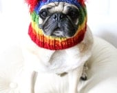 Rainbow Dog Hat - The Original Pug Hat - Dog Clothing - Pet Accessories - French Bulldog Hat - Colorful Pet Apparel