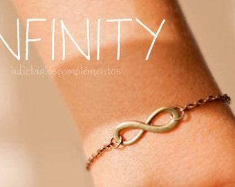 Bracelet Infinity, everyday jewelry, gold love, eternity bracelet