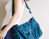 New Year SALE - 20% OFF Mini Classic in Dark Teal / Sling bag / Messenger / Crossbody / Hobo / Handbags / Purses / For Her / Women / Kids