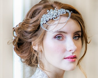 Clarissa with Roses Bridal Headpiece