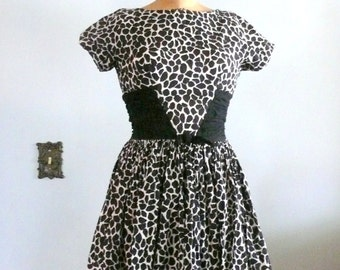 1950s Jonathan Logan Black and White Dress