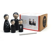 The Chalk People // Wooden Toys // Little Wooden Peg Doll People Wooden Dolls