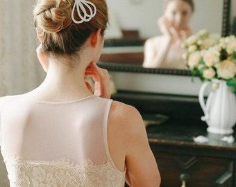 Wedding bow, bow hair pin, flower girl hairpin, bridesmaids, wedding gift - style #125