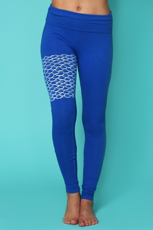 Organic Yoga Clothing Colorful Leggings Mermaid Leggings