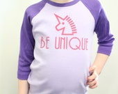 Girls Be Unique Raglan American Apparel Shirt