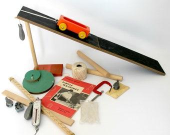 Vintage Science Kit Simple Machines Physics Experiment Teaching School Homeschool Back to School