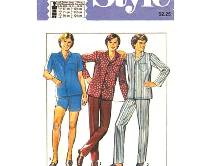 Mens Pajama Pattern Style 3079 Pants or Shorts Size S M L XL