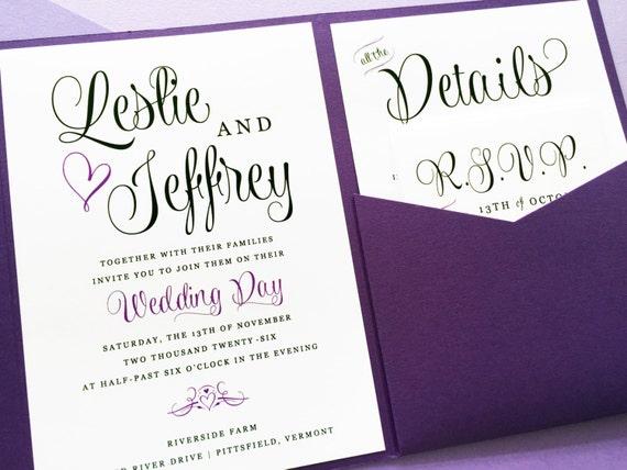 purple wedding invitation lavender wedding invitation, invitation samples