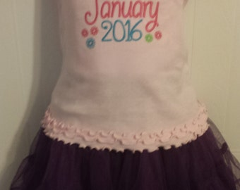 Only Child Expiring Pregnancy New Sibiling Sister announcement Embroidered shirt or onesie or tank