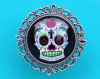 Sugar Skull Drawer Knobs - Cabinet Knobs Different Skulls available