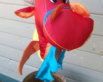"MADE to ORDER Classic Collection Stick Dragon ""Ferno"" Toddler or Standard Size"