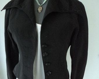 vintage ben de lisi jacket, british designer, designer jacket, vintage jacket, victorian look, steampunk look, EXQUISITE BEADWORK