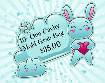 SALE 10 Single Cavity Resin Molds for Just 35.00!  For a Limited Time!