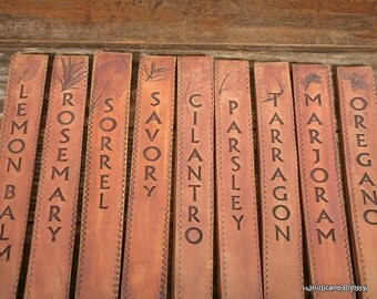 Long, Thick, & Sturdy, 12 Ceramic Plant Markers - Easy to Read - Set of 12 - Made to Order