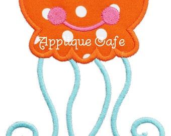596 Jellyfish 2 Machine Embroidery Applique Design