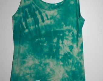 Large Funky Blue Green Grateful Dead Tank Top Tie Dye Dress
