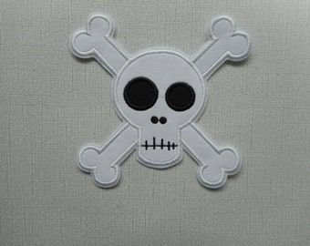 Free Shipping   Ready to Ship  Skull Fabric Iron on applique