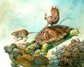 Turtle Race (print)