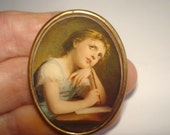 Vintage Jewelry Child  Student Brooch KL Design