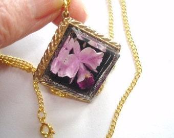 Lavender Orchid Flower Flower Pendant
