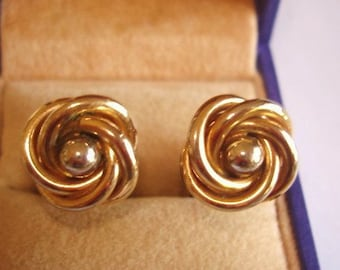 Swank Knot Gold Tone Cuff Links