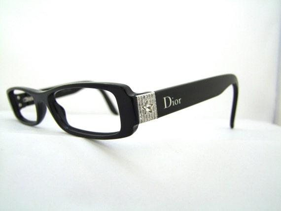 Designer Eyeglass Frames With Rhinestones : Christian Dior designer Vintage Eyeglass frames 90s