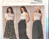 Vogue American Designer 1723 UNCUT Vintage Ralph Lauren Pants and Skirt Pattern - Size 8