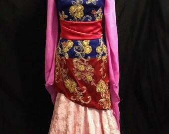 Mulan Kimono Sleeve Dress Custom Made Costume Chinese Cosplay