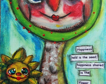 The Happy Owl Tree Original Painting