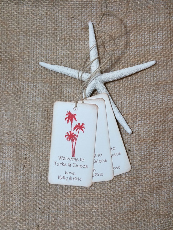 Destination Wedding Gift Tags, Beach Wedding tags, Coral Favor Tags ...