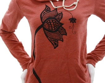 Lotus Flower| Lightweight Pullover hoodie| Soft organic cotton blend| Art by MATLEY| Gift for her| Zen| Yoga| Jumper.