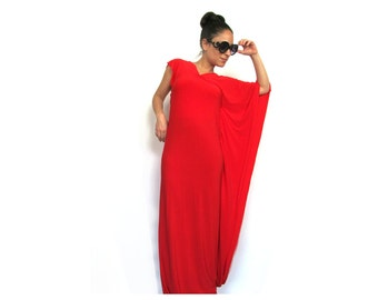 Evening 'Hear Me Roar' Red Dress Boutique, Maxi Dress With Sleeves